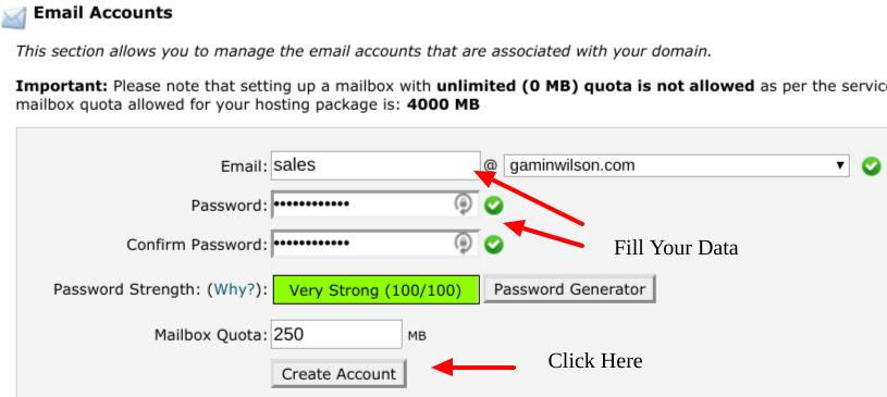 domain email setup